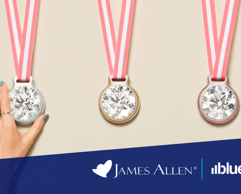 James Allen diamonds on medals.